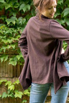 Scarf Neck Cardigan von Swoon Sewing Patterns | genähte Strickjacke aus Strickstoff | gratis Schnittmuster Anleitung für Cardigan | DIY, handmade fashion, do it yourself, selbermachen, selber nähen
