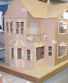 Cardboard Doll House Patterns | And finally I've made an attempt at making some…