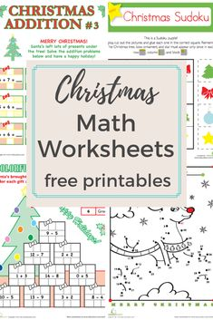 Award winning educational materials like worksheets, games, lesson plans and activities designed to help kids succeed. Start for free now! Math Multiplication Worksheets, Christmas Math Worksheets, Kindergarten Math Worksheets, Free Printable Worksheets, Preschool Kindergarten, Free Printables, Multiplication Strategies, Maths, First Grade Activities