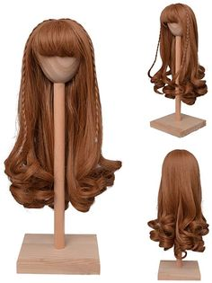 Amazon.com: MUZI Wig BJD Doll Wig Light Golden Long Curly Hair Wigs for 1/3 BJD SD Doll Hair Wigs Doll Accessories (03)