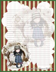 Gorjuss Stationary Printable, Printable Lined Paper, Diy And Crafts, Paper Crafts, Cute Journals, Holly Hobbie, Stationery Paper, Note Paper, Writing Paper