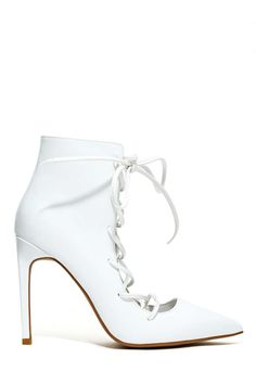 Jeffrey Campbell Sugarplum Bootie - White | Shop Heels at Nasty Gal