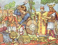 La scène du vase de Soissons. L'illustrateur Henri Dimpre (1907-1971)