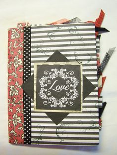 """Altered Composition Book  Valentine's Day Gift"""" """"Love"""""""