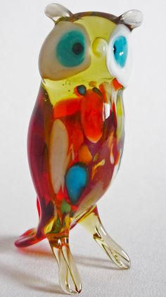Owl-glass-art-figurine