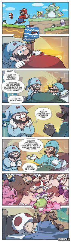 Marios Nightmare - toad's fantasy