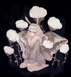 I sketched this a year before I actually finished it, and I love the sketch but I never got it to look right with colours no matter how much I tried Moth Fantasy Character Design, Character Design Inspiration, Character Art, Cute Moth, Anime Monsters, Flash Art, Fairy Art, Pretty Art, Mythical Creatures