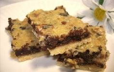 Walnut Chocolate Chip Pie Bars Recipe - http://Recipezazz.com