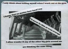 The uplifting power of telling people it's impossible to lose weight. Thanks FA! (Pulled from today's PostSecret posting)
