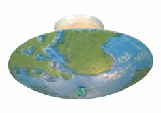 World Map Ceiling Light Fixture. Would go great with some maps on the wall.