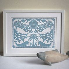 Personalised Jonah And The Whale Print - Glyn West Design