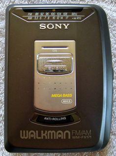 Vintage Sony Walkman WM-FX171 CassetteTape Player FM/AM Mega Bass  #Sony
