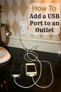 Share Tweet + 1 Mail Not so long ago I saw an outlet with USB ports on Pinterest.  I showed the pin to Mr. ...