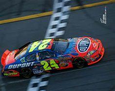 Even though I am sorta a fan of NASCAR,I still think he is a good guy! Nascar 24, Martin Truex Jr, Daytona 500, Jeff Gordon, Sports Figures, Vintage Race Car, Finish Line, Race Cars, Classic Cars
