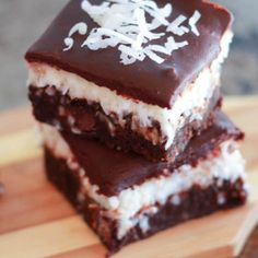 Coconut Brownies - Celebrating Sweets