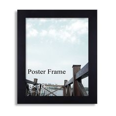 """Furnistars Decorative Black Wood 1.25"""" Wide Wall Hanging Poster/Picture Photo Frame"""
