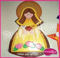 Pieza MDF / Virgen Rosa Mistica Princess Peach, Disney Princess, Trifles, Disney Characters, Fictional Characters, Angeles, Saints, Children Images, Picture On Wood