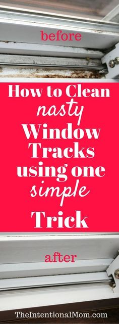 Do you need to clean your nasty window tracks? They can get ugly fast, and no one really likes to clean them. Here\'s the one simple trick you need to know! via @www.pinterest.com/JenRoskamp