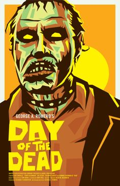 Artist Illustrating Fun Horror Posters for Every Day of October Horror Icons, Horror Movie Posters, Movie Poster Art, Horror Films, Film Posters, Zombie Movies, Scary Movies, 1980's Movies, Day Of The Dead Artwork
