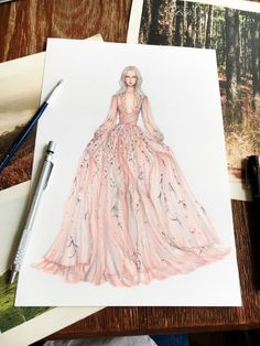 Ideas For Fashion Drawing Ideas Dresses Gowns Dress Design Sketches, Fashion Design Drawings, Fashion Sketches, Drawing Sketches, Drawing Ideas, Art Drawings, Fashion Drawing Dresses, Fashion Illustration Dresses, Fashion Dresses