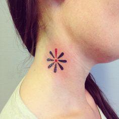 Knæk cancer tattoo Lilleink