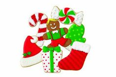 Winter Holiday Wilton Christmas Cookie Cutter Set wrapped candy cane gingerbread man boy present sto Christmas Gift Wrapping, Christmas Goodies, Christmas Fun, Christmas Ornaments, Christmas Baking, Disney Desserts, Wilton, Presents For Boys, Christmas Cookie Cutters