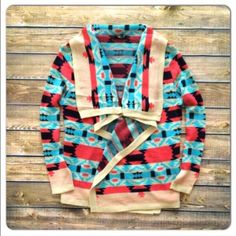 """⭐️M, L, 2X, 3X⭐️NWT Aqua Emily Tribal Cardigan ⭐️AVAILABLE IN M, L, 2X, 3X⭐️NWT """"The Emily"""" Tribal Cardigan. As seen on former bachelorette, Emily Maynard! This cardi is just perfect! Made of acrylic. Fits true to size with a loose fit. Available in Medium (6-8), Large (10-12), 2X, 3X🚫NO TRADES AND NO PAYPAL🚫 Sweaters Cardigans"""
