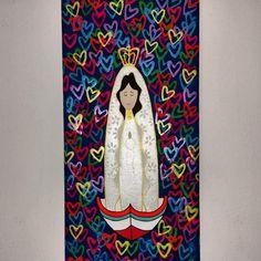 @Regrann from @vanessapirela.art -  Virgencita adorada bendicenos con la esperanza el amor y la alegría.  #devocionacolor #virgendelvalle #fe #amor #gratitude #painting #neón #metalic #canvas #artwork #instaart #contemporaryart  #modernart #artevenezolano #venezuela #hechoenmargarita #Regrann