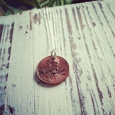 Stamped Lucky Penny necklace by TiffanyTill on Etsy, $18.00