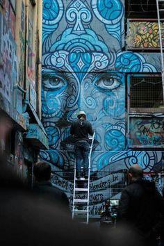 RONE x Phibs Official-Graffiti/Fine Art/Street Art! Murals Street Art, 3d Street Art, Urban Street Art, Amazing Street Art, Art Mural, Street Art Graffiti, Street Artists, Graffiti Wall, Graffiti Designs