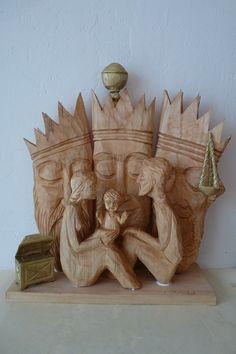 Nativity by Tomiš Zedník Christmas Nativity Scene, Nativity Sets, A Christmas Story, A Child Is Born, Mother And Child, Aussies, Bethlehem, Carved Wood, Christmas Traditions