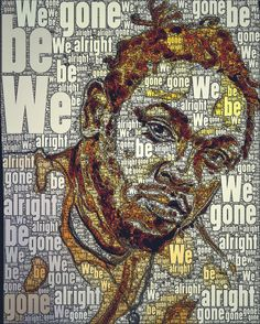 hbcreative: We Gone Be Alright! Kendrick painting by @hbcreative remixed for Black History 365 Beautiful
