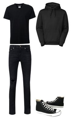 """""""Untitled #64"""" by hailey-michele on Polyvore featuring Yves Saint Laurent, Neil Barrett, Converse, The North Face, men's fashion and menswear"""