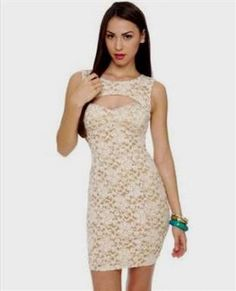 beige lace dress 2016 » DreaMyDress