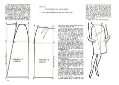 aprenda a coser gil brandao - elisa - Picasa Web Albums Vintage Dress Patterns, Clothing Patterns, Vintage Dresses, Sewing Patterns, Pattern Cutting, Pattern Making, Diy Fashion, Fashion Design, Pattern Drafting