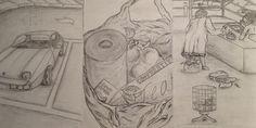 Illustrated storyboards by Tamalia Reeves-Pyke