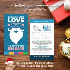 Custom Rodan + Fields Christmas Themed Beyond The Shave Card