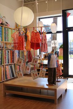 Great display for sewing shop and samples!! @Sewn Oliver + S fall 2012 by imaginegnats, via Flickr