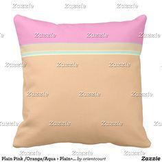 Plain Pink /Orange/Aqua > Plain+ Pattern Pillows