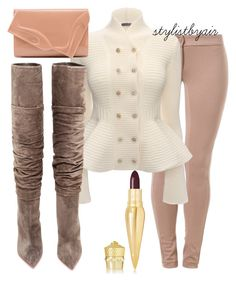 Untitled #4379 by stylistbyair on Polyvore featuring polyvore fashion style Alexander McQueen Patrizia Pepe Christian Louboutin