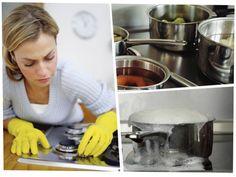 Limpia cada vez que una sustancia se derrame en la superficie de tu estufa a gas para no obstruir sus inyectores. Diy Cleaning Products, Stove, Kitchen Appliances, Ideas, Clean House, Cleaning Hacks, Home Hacks, Tips And Tricks, Home Remedies