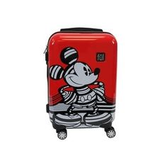 Travel far and wide with safety and security by selecting this FUL DISNEY Striped Mickey Mouse Red Hard Sided Luggage. Made with durable ABS plastic. Minnie Mouse Luggage, Mickey Mouse Gifts, Minnie Mouse Costume, Disney Mickey Mouse, Luggage Deals, Best Carry On Luggage, Travel Luggage, Hard Sided Luggage, Disney Diy