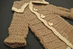 Baby boy crocheted sweater, photo prop on Etsy, $35.00