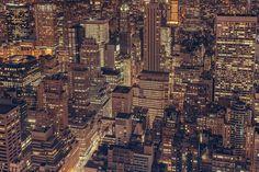 ニューヨーク, 市, スカイライン, 建物, アーキテクチャ, 泊, 暗い, ライト, 空気, 屋根の上, 塔
