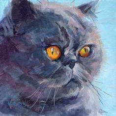 Cat Art -  Blue Himalayan