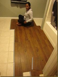 I Did This Myself Vinyl Plank Flooring Over Tile Floors