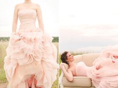 Vera Wang blush wedding dress.  this was my 2nd choice!  sigh.  wish i would have chose it.