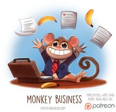 Daily+Paint+1519.+Monkey+Business+by+Cryptid-Creations.deviantart.com+on+@DeviantArt