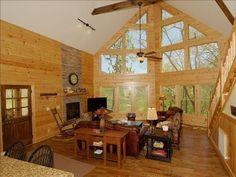 VRBO.com #292922 - A Rockaway Hideaway,New Luxury Log Cabin,Creek & View ,Pets
