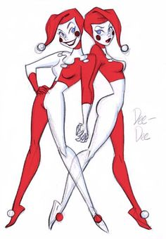 batmananimated:  Original designs for Dee-Dee , being much more similar to their grandmother, Harley Quinn, by Bruce Timm. From Batman Beyon...